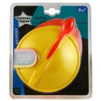 Jual Tommee Tippee Big Weaning Bowl With Heat Sensing Spoon BB Diskon