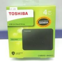 Hardisk External TOSHIBA BASIC 4TB ORIGINAL GARANSI RESMI 3 Tahun