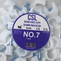 Klem Kabel 7mm Paku Beton Asli Cable Clip Premium