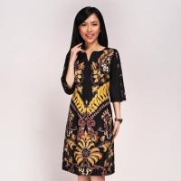 "Batik Kultur Dress - WPD - Black Yellow ""V' Parang"