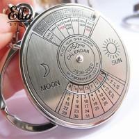 Baru kc Gantungan Kunci Silver dengan Kalender Perpetual 50 Tahun