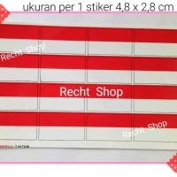 stiker sticker tempelan wajah bendera merah putih bendera indones