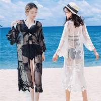 cardigan lace kimono pantai cover baju renang cover up bikini outer