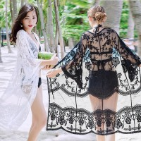 cardigan lace pantai cover baju renang cover up bikini outer kimono