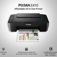 CANON PRINTER PIXMA E410 ALL IN ONE / PRINTER CANON E 410 MULTIFUNGSI
