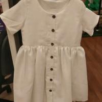 dress anak catton putih