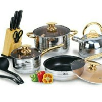 panci set oxone rose gold / cookware set ox-777