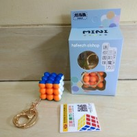Gantungan Kunci Rubik Bead Cube 3x3 Stickerless