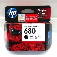Tinta Printer HP 680 Black Ink Catridge ORIGINAL GARANSI RESMI