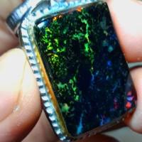 batu cincin black opal full jarong f01