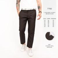 Celana Panjang Pria / Celana Chino Kotak Kotak Coklat