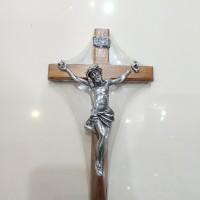 Salib Dinding kayu 30cm / salib kayu gantung