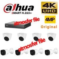 PAKET CCTV DAHUA 8CH 8 CAMERA UHD 4MP ORIGINAL NON KABEL