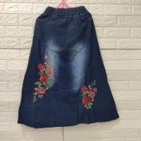 rok panjang jeans anak perempuan tanggung 10-12th