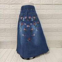 rok panjang jeans anak perempuan 3-12thn
