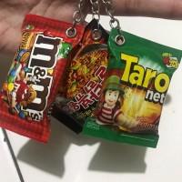 gantungan kunci miniatur snack paket 100 pcs