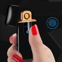 korek api mancis elektrik USB power sensor sidik jari-lighter USB led