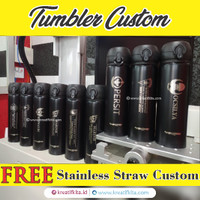Tumbler Custom FREE Stainless Straw Nama