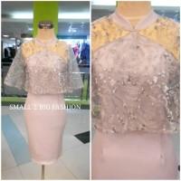 dress paskah / dress natal / dress pesta / dress abu marun biru pink