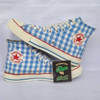 CONVERSE PLAID BLUE