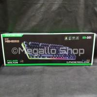 NYK KR-301 RGB Underglow Gaming Keyboard Garansi Resmi