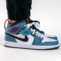 Sepatu Nike Air Jordan 1 Mid Fearless x Facetasm Premium Original