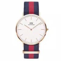 jam tangan cewe jam tangan wanita jam tali kanvas free box & batrai