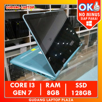 HP PAVILION X360 2-IN-1 TOUCHSCREEN CORE I3 8GB LAPTOP BEKAS MURAH
