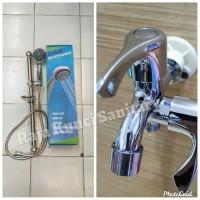 Shower Tiang Stainless+ Keran(PROMO)/Shower Set Kamar Mandi
