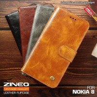 Nokia 8 Wallet Leather Case Dompet Kartu Flip Case Flip Cover