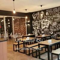 meja makan, meja cafe restorn kayu jati belanda