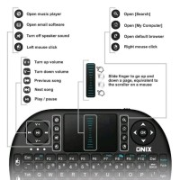 Onix Mini Wireless Keyboard Basic For Android TV PC Tablet