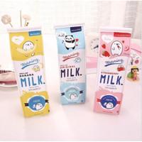 Tempat Pensil Kotak Pensil Bentuk Kotak Susu Milk Tempat Alat Tulis