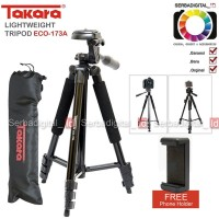 TAKARA ECO-173A Lightweight Tripod With Pouch/Tas/Bag, Holder Satoo