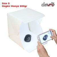 Photo Studio Mini dengan Lampu LED - Putih