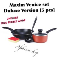 Maxim Venice Deluxe Version Set (5 in 1) Cookware set kado pernikahan