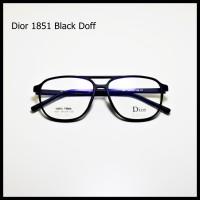 Frame Kacamata Bisa Minus Plus Vintage Kuno Plastik Retro 1851 hitam