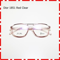 Frame Kacamata Bisa Minus Plus Vintage Kuno Plastik Retro 1851 merah