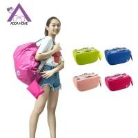 Tas Ransel Backpack Travelling Korean Style Untuk Pria Wanita - Merah Muda