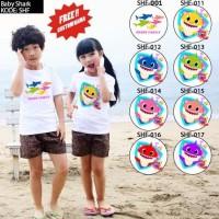 Kaos / Baju Anak Baby Shark - 8 Motif/Design -