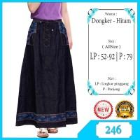 Rok Jeans Anak / Rok Panjang Anak Perempuan Warna Hitam