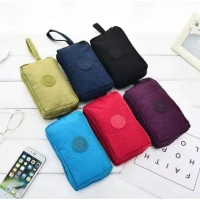 Travel Pouch / Pouch Bag / Pouch Nylon 3 Sekat Multifungsi