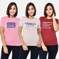 PROMO HEMAT 12 100RB GET 3 PCS Seyes Kaos Wanita Baju Atasan Spandek