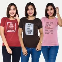 PROMO HEMAT 9 100RB GET 3 PCS Seyes T-Shirt Wanita Baju Atasan Spandek