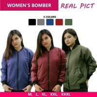 Jaket Bomber Wanita Polos Jaket Wanita Berkualitas Murah