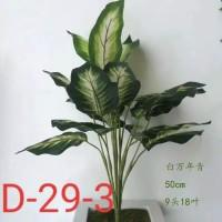 pohon srirejeki plastik -Daun srirejeki -Daun keladi-Keladi artificial