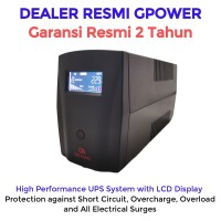 UPS GPOWER GP200 800va / 480 watt + Stabilizer (Garansi resmi 2 tahun)