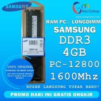 RAM MEMORY DDR 3 4GB SAMSUNG LONGDIMM PC-12800 1600Mhz ORIGINAL NEW