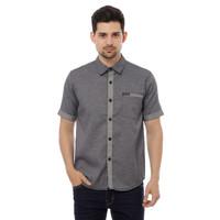 Cottonology Kemeja Burden Black Short Shirt