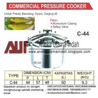 GETRA C-44 Commercial Pressure Cooker Panci Presto Komercial 50 Liter